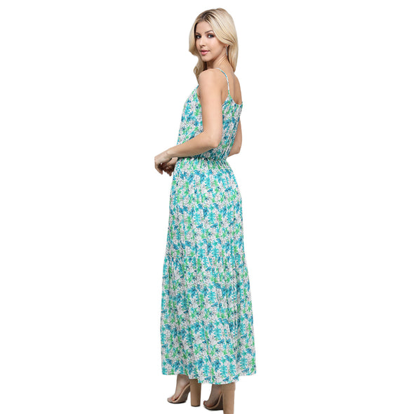 Keyhole Cinch Waist Maxi Dress