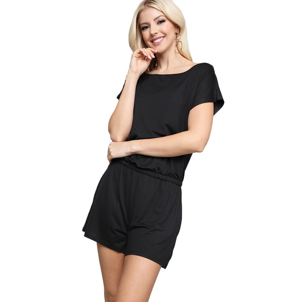 Wide Neck Slouch Romper