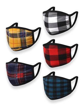 Plaid Novelty Mask