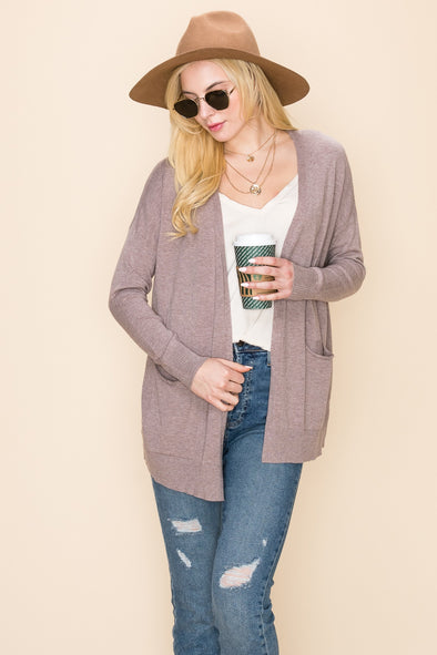 Loose Fit Pocket Sweater Cardigan