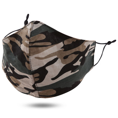 Camo Print Adjustable Face Mask