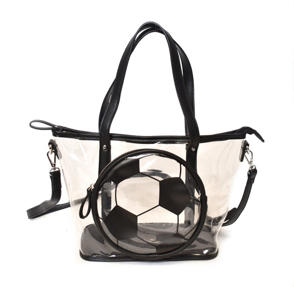 Clear Soccer Tote