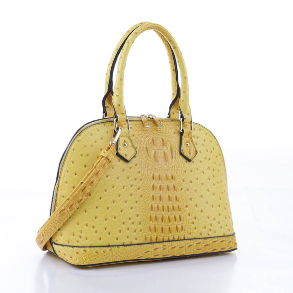 Ostrich Dome Satchel
