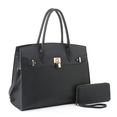 2 Pc N/S Satchel With Wallet