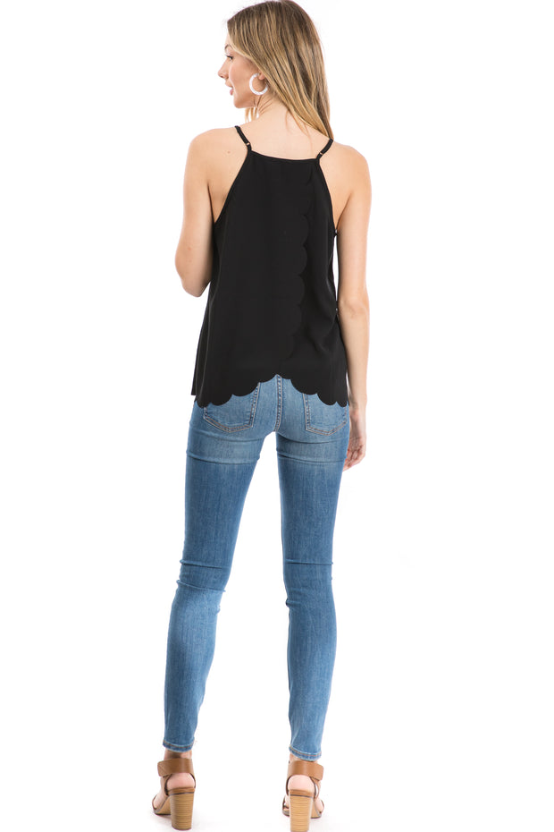 Scallop Razor Back Tank