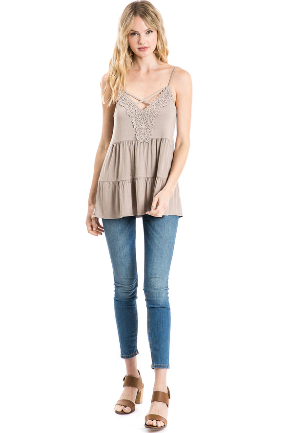 Women's Knit Tiered Cami
