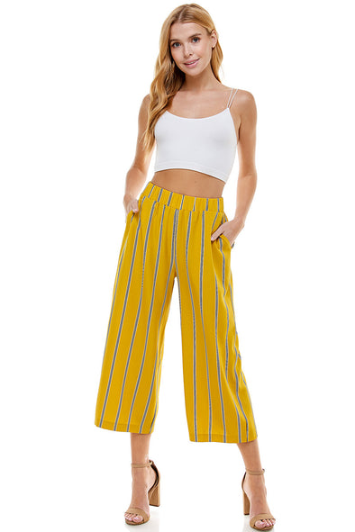 Stripe Cropped Pant