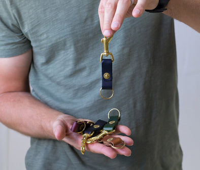 Genuine Leather Key Clip