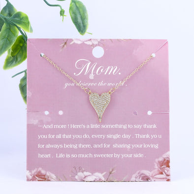 You Deserve the World, Mom Necklace