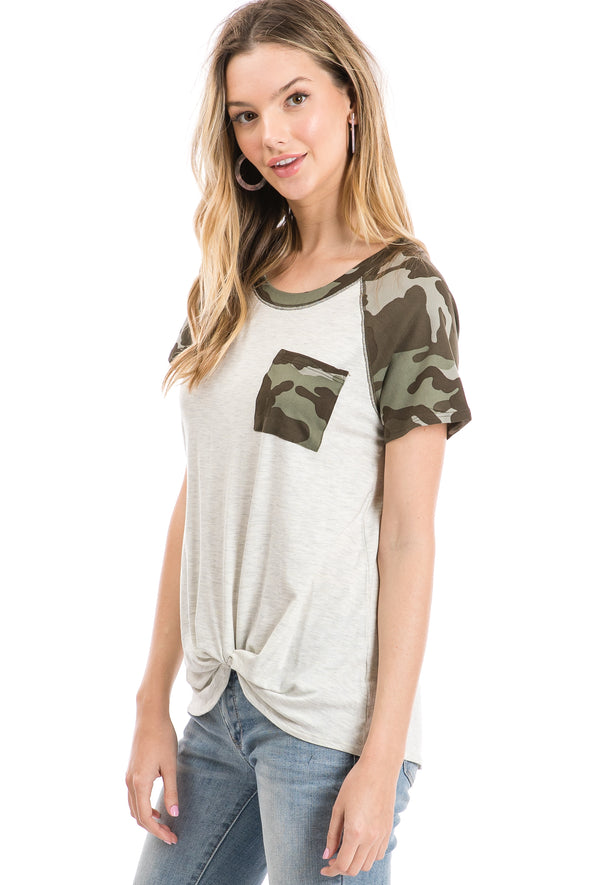 Short Sleeve Camo Block Tee