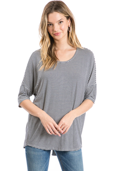 Women's Casual 3/4 Sleeve Knit Top