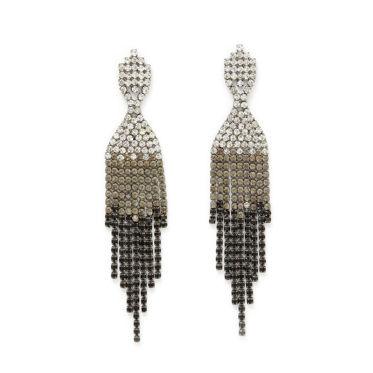 Ombre Rhinestone Chandelier Earrings