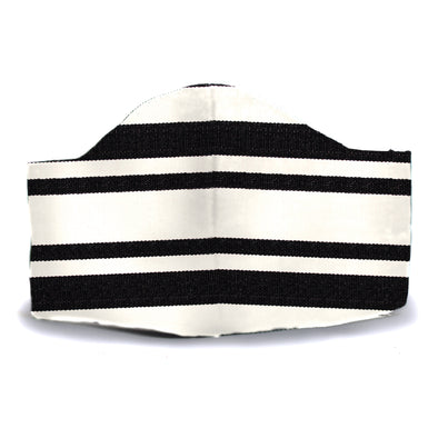 Black/White Stripe Face Mask