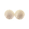 Round Button Stud Earrings - Stainless Post - Rose Gold - Charming Charlie