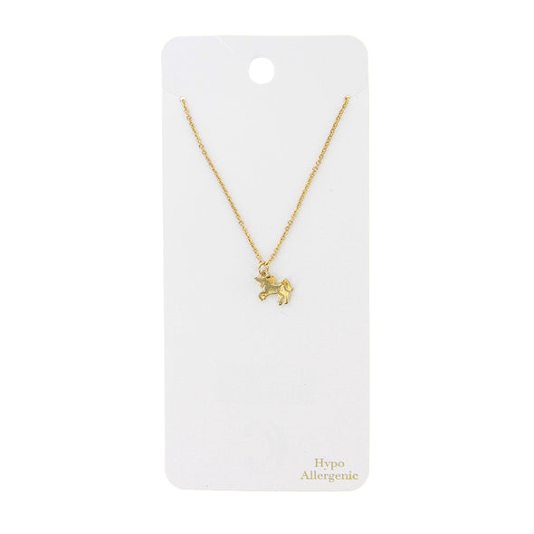 "16"" Unicorn Charm Short Pendant Jewelry Necklace - Gold - Charming Charlie"