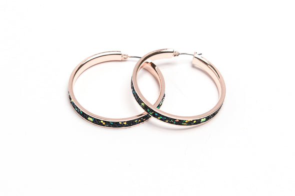 ANNE KLEIN DS 42MM HOOP MULTICOLOR SPARKLE