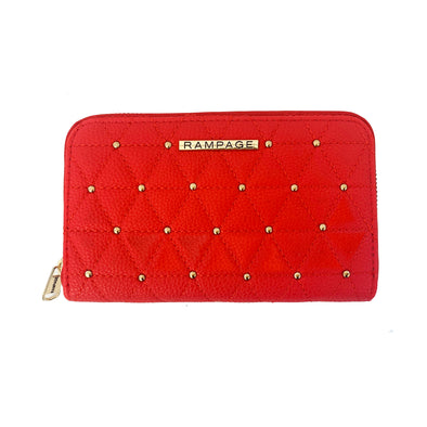 Short Zip Around Studded Wallet