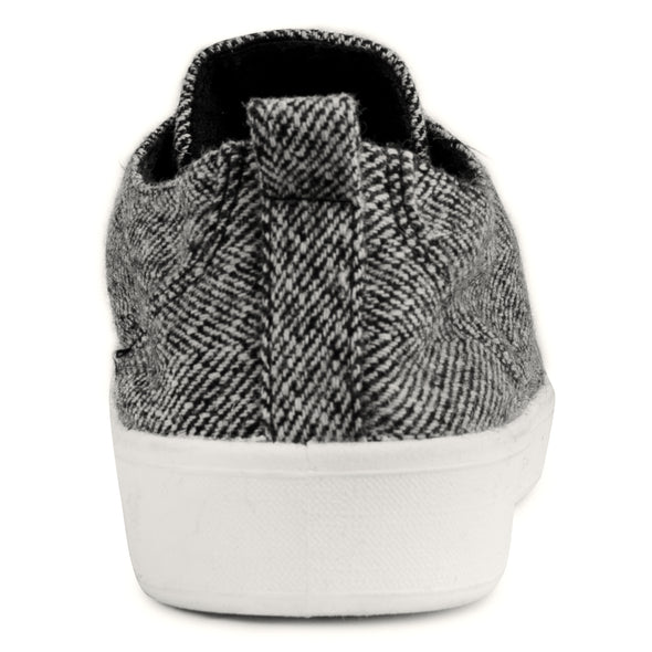 The Festival Black/White Herringbone Casual Tennis Shoes