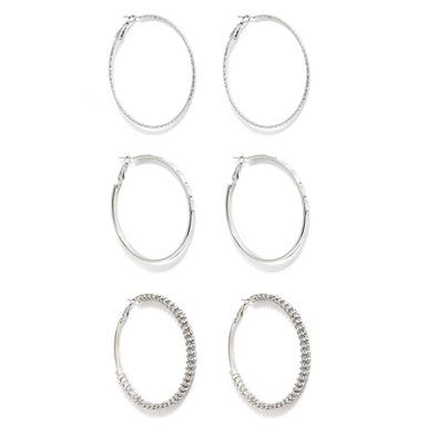 Everyday Simple Set of 3 Hoop Earrings