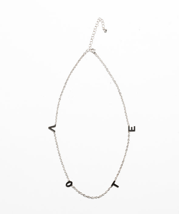 Vote Necklace Silver