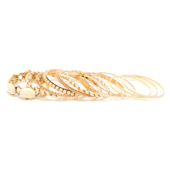 Set of 10 Layering Bangle Bracelets