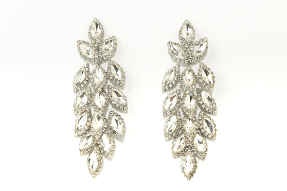 Marquise Halo Statement Occasion Earring