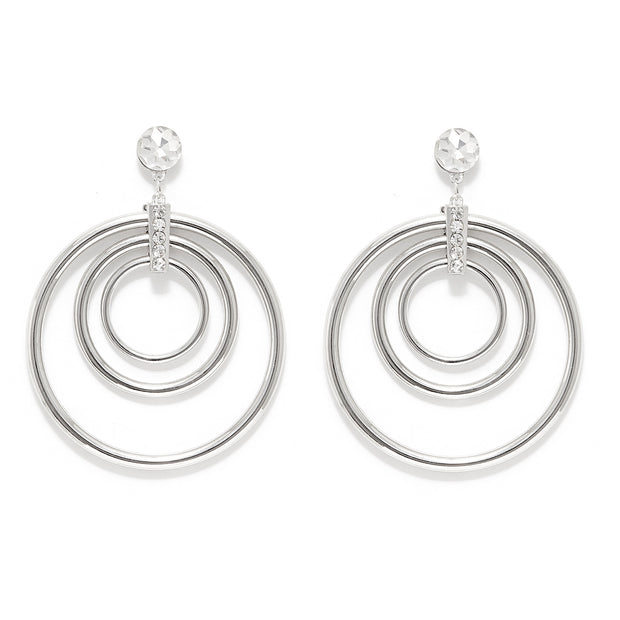 Triple Circles Drop Earring