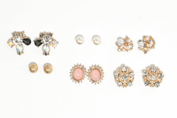 Set of 6 Statement Studs