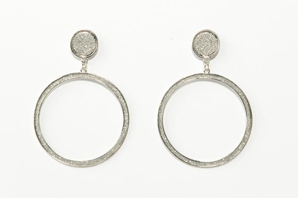Stardust Open Doorknocker Earrings