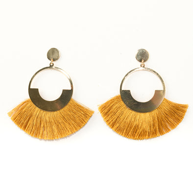 Fanned Out Tassel Post Earring