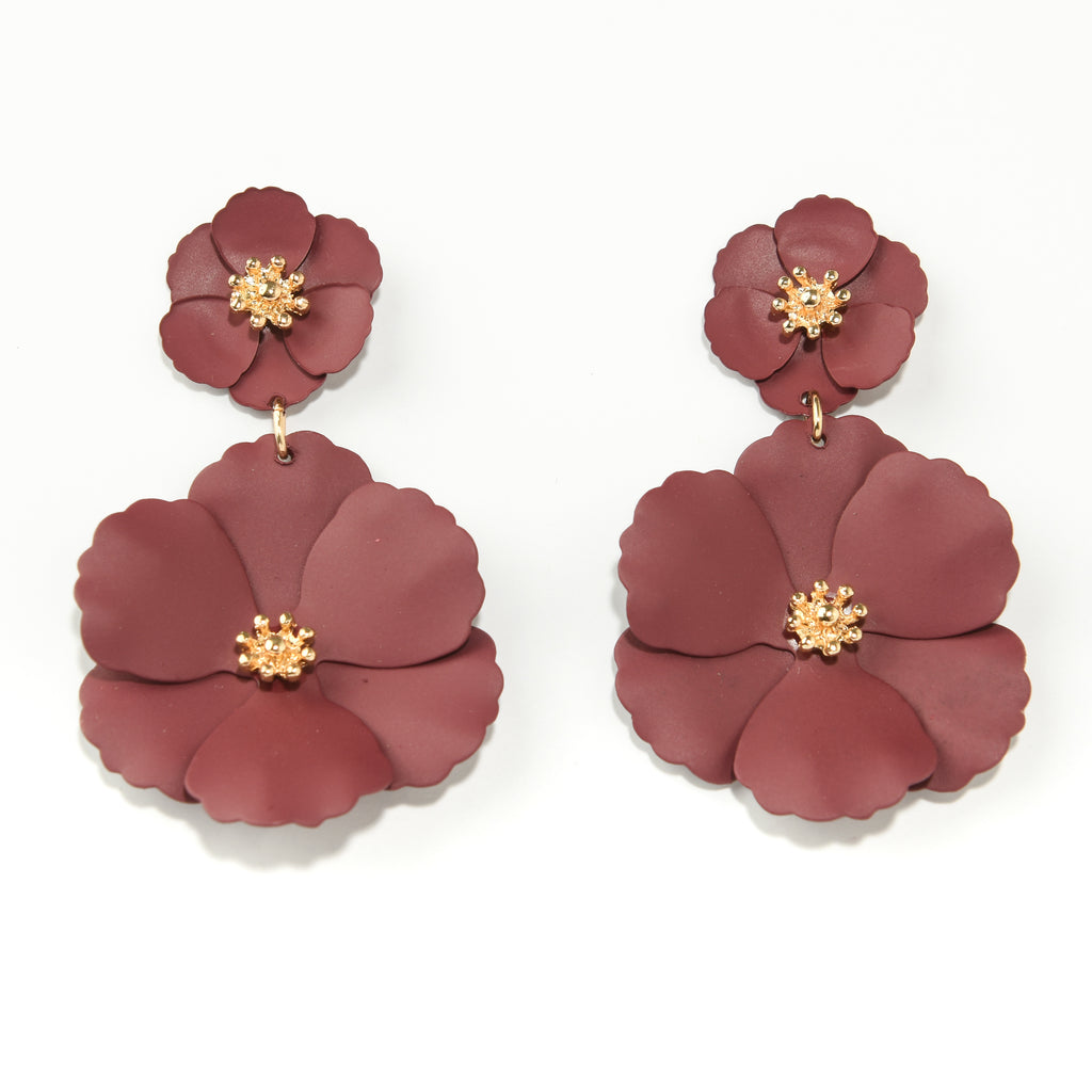 Floral Post Statement Earrings