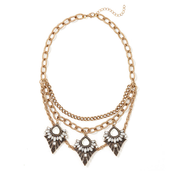Statement Fashion Layered Collar Necklace