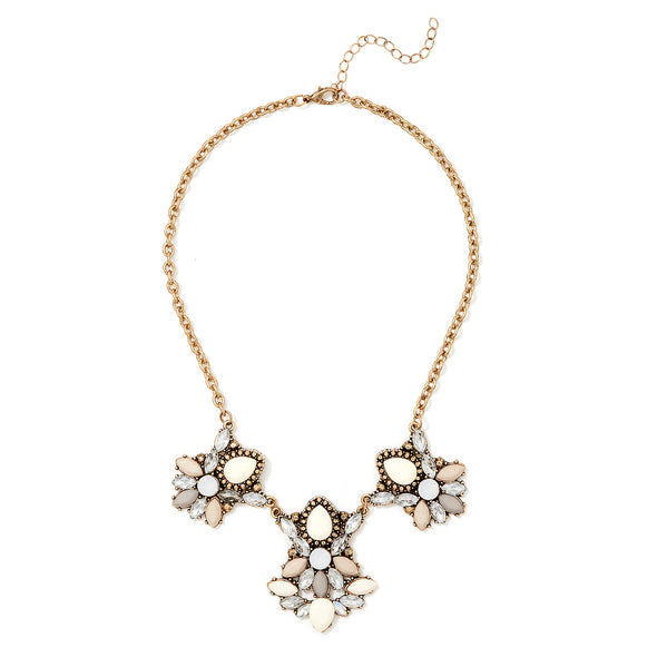 Clustered Stones Statement Collar
