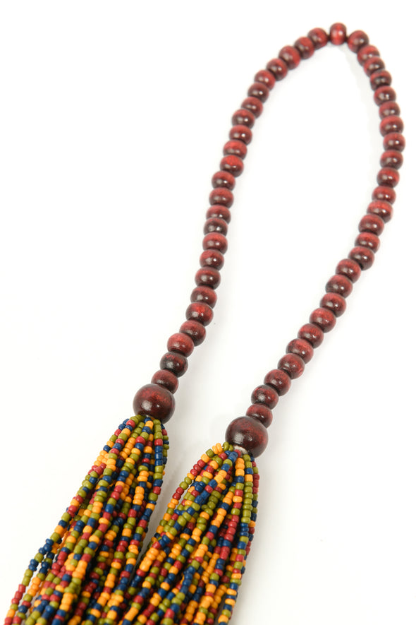 Seedbead Swag Layered Necklace