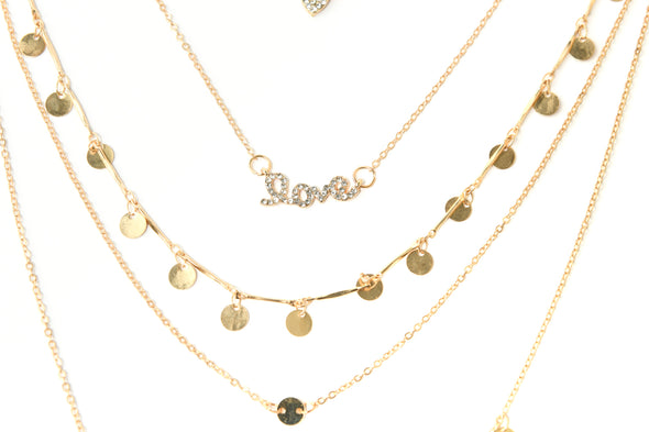 Delicate Pre-Layered Love Necklace