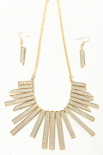 Glitter Cleopatra Collar and Earring Set