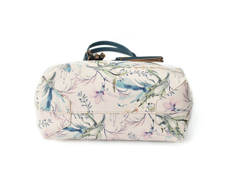 Floral Print Bag in Bag Tote
