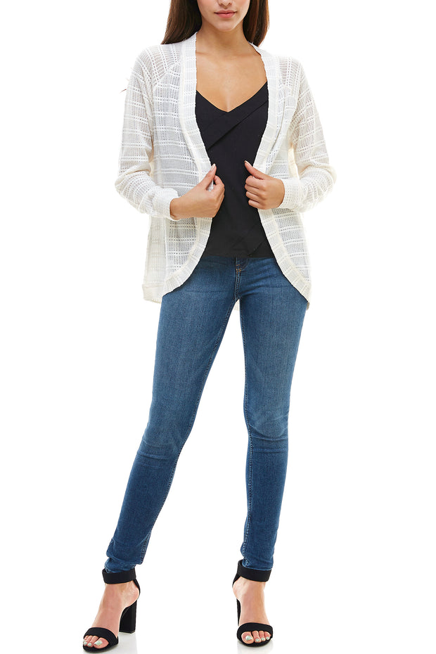 Ribbed Simple Light Weight Cardigan - Charming Charlie