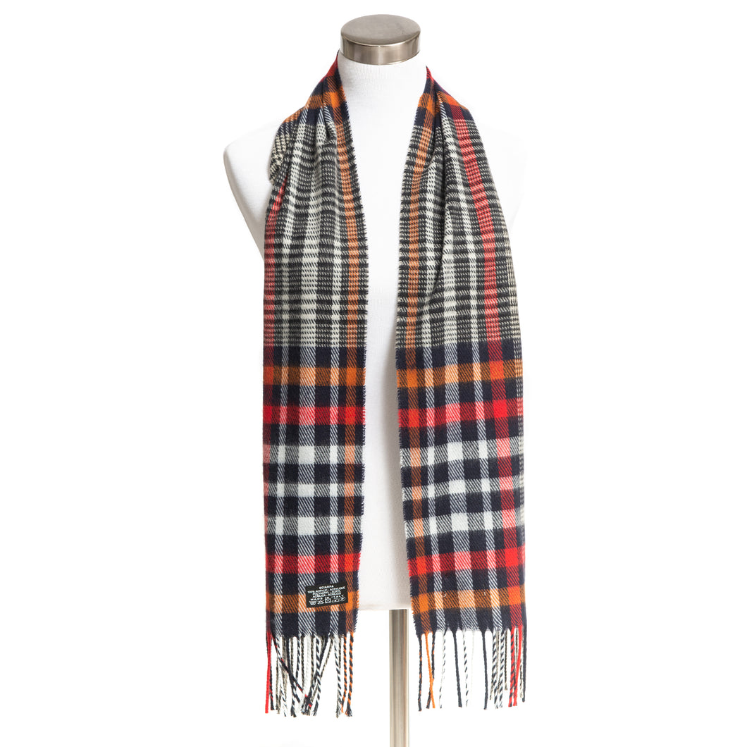 Winter Muffler Warm Scarf - Grid Plaid Design - Oat
