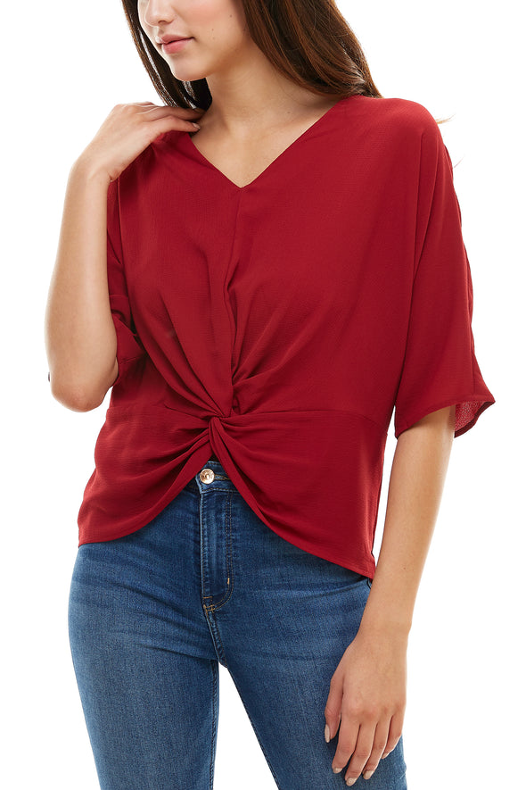 Twist Front Tunic Blouse - Charming Charlie