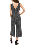 Sleeveless Knot Front Stripe Jumpsuit - Charming Charlie
