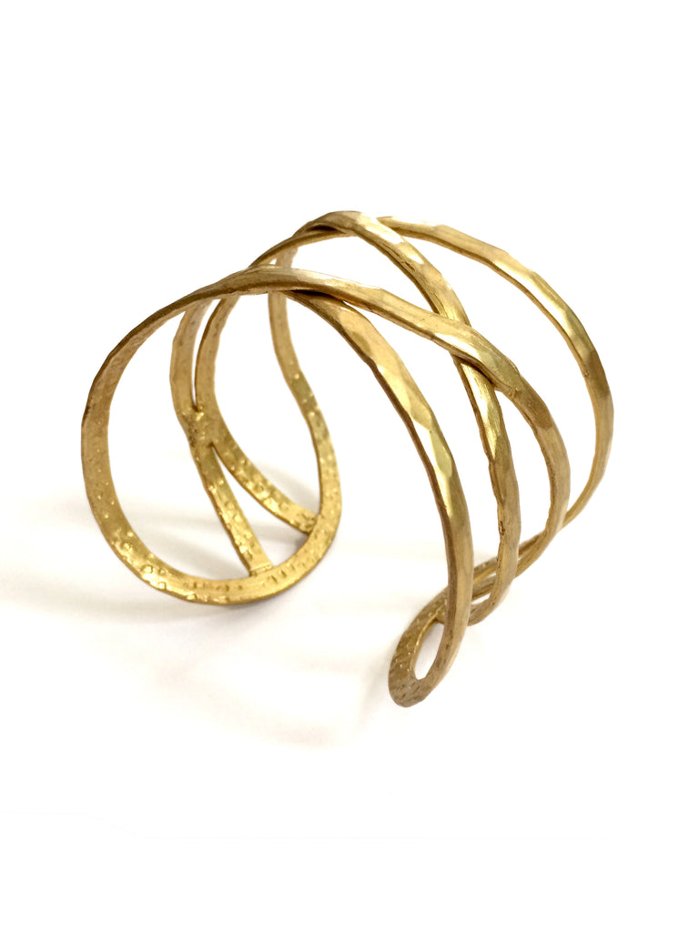 Criss-Cross Cuff, Gold
