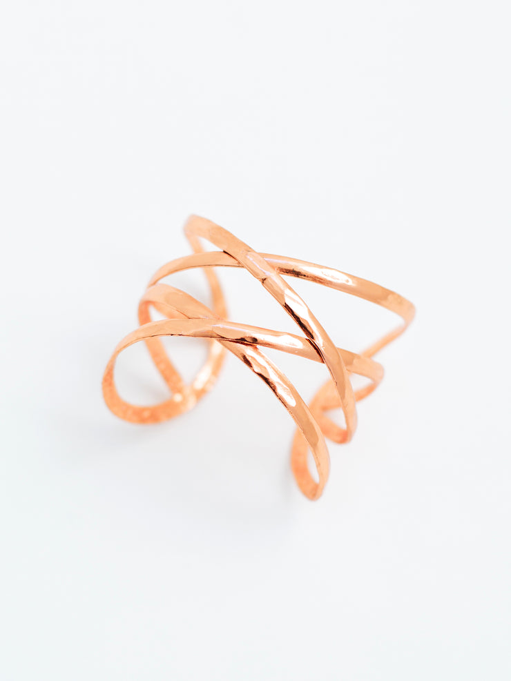 Criss-Cross Cuff, Copper