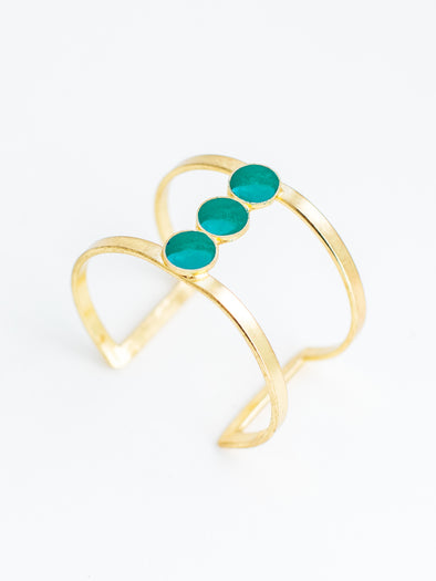 Trimoon cuff turquoise
