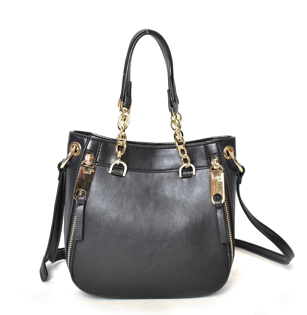 Double Handle Chain Satchel Crossbody