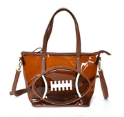 Clear Football Tote