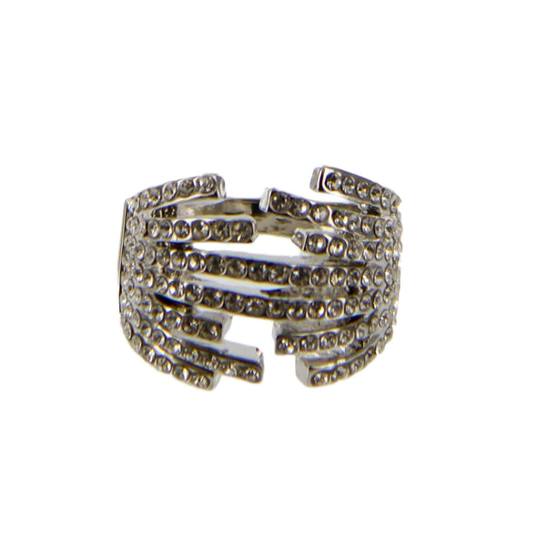 Rhinestone Statement Cocktail Ring - Charming Charlie