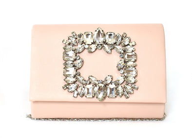 Rhinestone Broach Day to Night Clutch