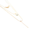 "20"" Triple Layered Necklace and Earring Set - Gold - Charming Charlie"