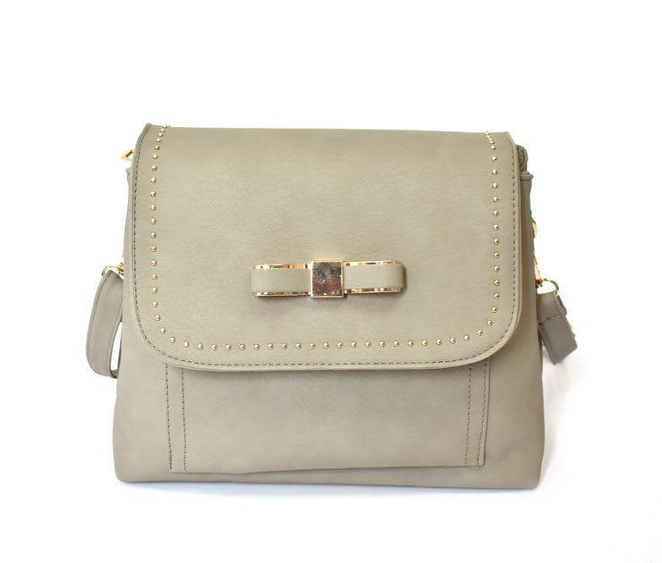Crossbody Bag with Decorative Bow - Charming Charlie